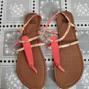 Womens size 11 Faded Glory Peach Sandals